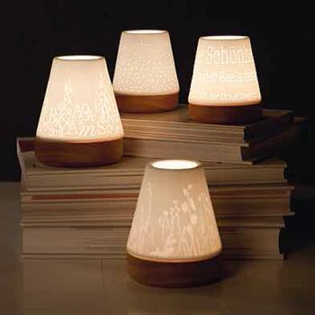 Windlicht gro buchstaben porzellan holz von r der design for Windlicht gross
