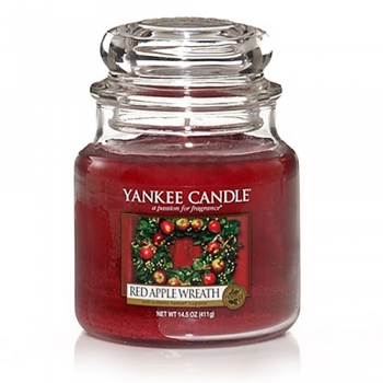 Yankee Candle RED APPLE WREATH Duftkerze Classic mittel