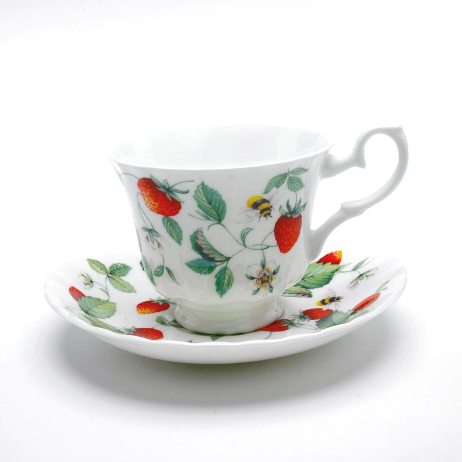 erdbeertasse kaffee oder tee alpine strawberry roy kirkham 200ml garten traum. Black Bedroom Furniture Sets. Home Design Ideas