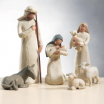 DIE HEILIGE FAMLIE The holy family  Krippenfigur - Set von Enesco by Willow Tree