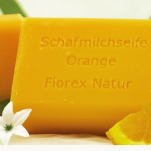 Orange Florex Schafmilchseife