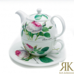 Roy Kirkham Redoute Rose Tea for One 3teilig