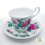 Roy Kirkham English Rose Tasse mit Unterteller